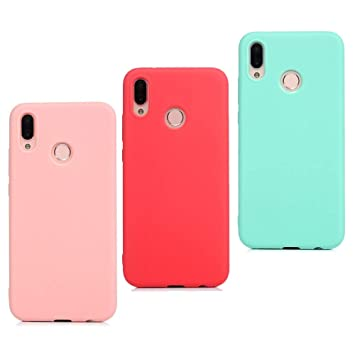 3X Funda Huawei P Smart Plus Silicona Carcasa Suave Flexible TPU Gel CoverTp Ultra Fina Delgado Case Cubierta Protectora Caja para Huawei P Smart ...