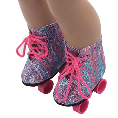 Shoes Doll Clothes - Wensltd Clearance! Glitter Doll Shoes Straps Boots For 18 Inch Our Generation American Girl Doll