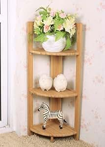 SoBuy Estante, rinconera, estantería plegable, estantería de bambú, única. 95x30x30 cm FRG14-N