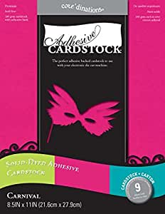 Core'dinations - 8.5 x 11 Adhesive Cardstock - Carnival