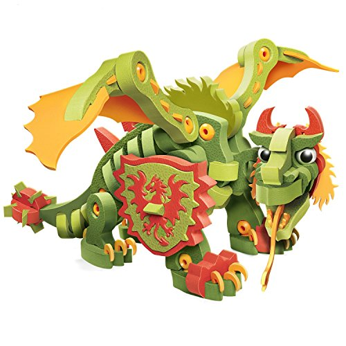 Bloco Toys Combat Dragon | STEM Toy | Fantasy Mythical Creatures | DIY Building Construction Set (155