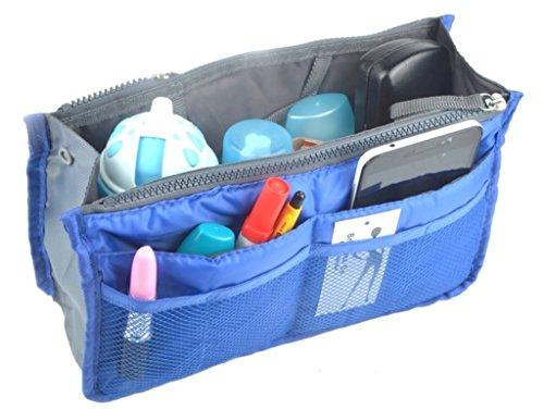 Brilliance Co Organizer für Handtasche - Handtaschenordner - Taschenorganizer Bag in Bag (Schwarz) Dunkelblau