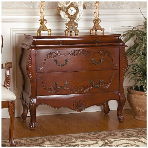 Hand Carved Bombe Chest - 2