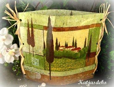 Portavelas decorativo para mesa, diseño de Toscana: Amazon.es ...