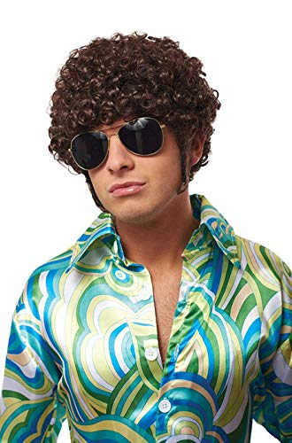 Costume Culture Men's That 70's Guy Wig Adult Costume, Brown, ()