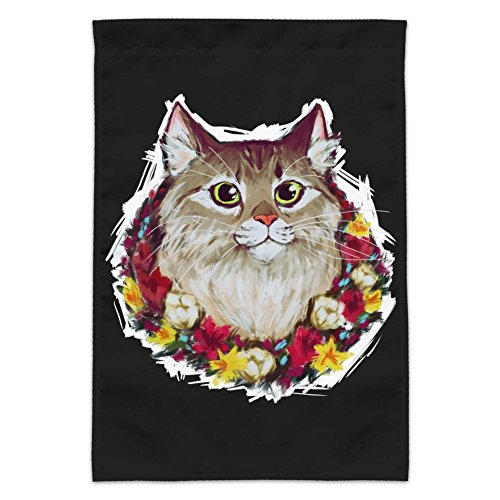 Graphics and More Painted Tabby Cat with Flowers Garden Yard