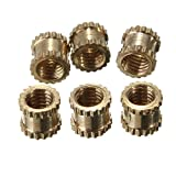 100pcs/lot Brass Knurl Nuts M3 4mm L-4mm OD Metric Threaded Nuts Insert Round Shape