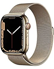 Apple Watch Series7 (GPS + Cellular, 45mm) - Gold Stainless Steel Case with Gold Milanese Loop