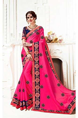 Traditional 12 Designer Party Indian Wedding Pink Women Sari Wear Sarees Facioun Da for B7Uqwzn6