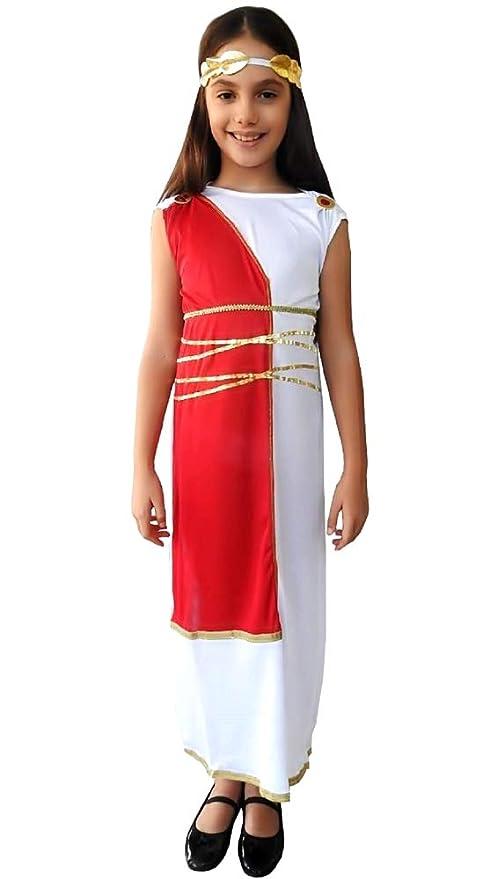 Traje romano antiguo - blanco - niña 4 disfraces para niños ...