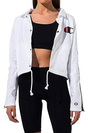 ab8380eb9 Champion LIFE Women's Zipper Tape Cropped Coaches Jacket