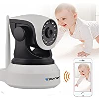 VSTARCAM AS7824WIP Wireless Security Network IP Camera WiFi Remote Surveillance 720P HD Indoor PTZ Pan Tilt Zoom Audio Recording Night Vision Video System Home for Baby Monitor