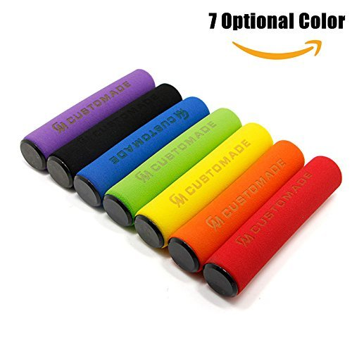 (Delight eShop 1pair Foam Handlebar Grips, for Bicycle Scooters, 7 optional color (Purple))