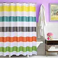 Creative Home Ideas Ombre Waffle Weave Shower Curtain with Metal Roller Rings
