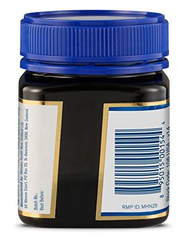 Manuka honey bottle label