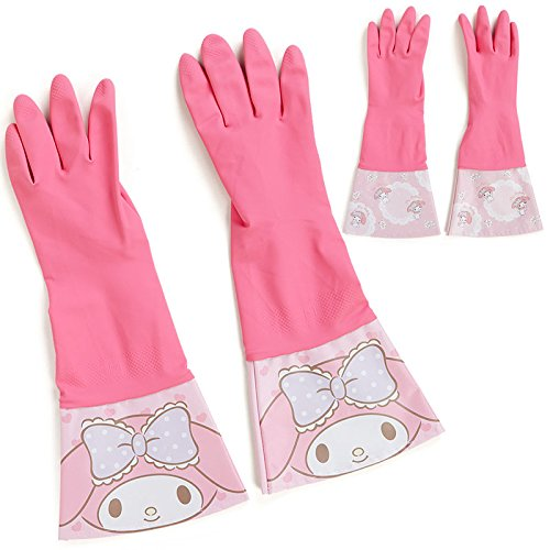 Sanrio My Melody cute rubber gloves race From Japan New (Famous People With Wigs)