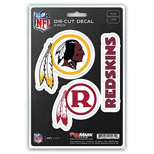 (NFL Washington Redskins Team Decal, 3-Pack)
