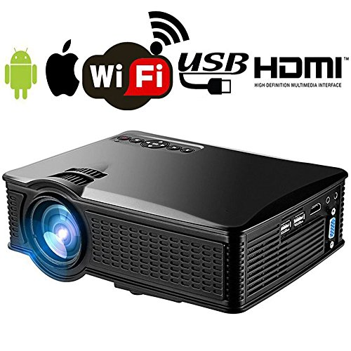 Wifi Mini Projector Portable for iPhone Android, WEILIANT...