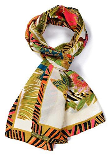 Salutto Women 100% Silk Scarf Van Gogh Monet Famous Painter Painted Scarves