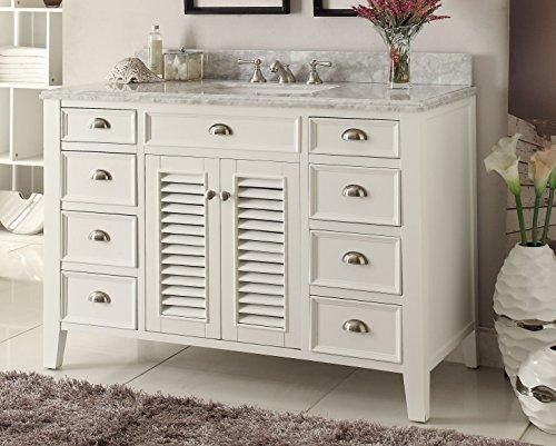 Kalani 60-inch White Bathroom Vanity : Includes Self Closing