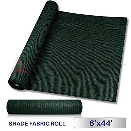 Windscreen4less Dark Green Sunblock Shade Cloth,95% UV Block Shade Fabric Roll 6ft x 44ft ()