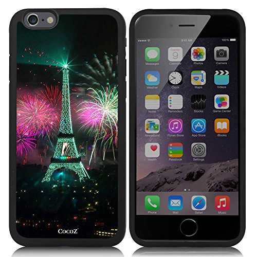 Price comparison product image New Apple iPhone 6 s 4.7-inch CocoZ® Case Classic Paris Eiffel Tower Beautiful Night view TUP Material Case (Black TPU& Eiffel Tower 16)