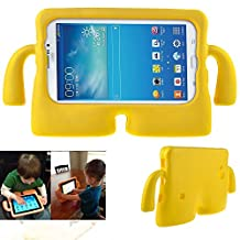 Samsung Galaxy Tab 7.0 Inch Case,Y&M(TM) Cute EVA Foam Childproof Shockproof Durable Light Weight Cute 3D Cartoon Kids Protective Tablets Case Cover for Samsung Galaxy Tablet 2 /3 /3 Lite / 4 / Q 7.0 inch Yellow