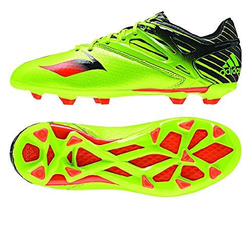 Adidas Messi 15.1 Fg / ag junior Tacos de fútbol (semi limo solar), limo semi Solar / solar rojo / Semi Solar Slime / Infrared / Black
