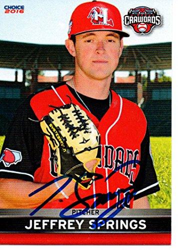 Jeffrey Springs 2016 Hickory Crawdads Signed Card