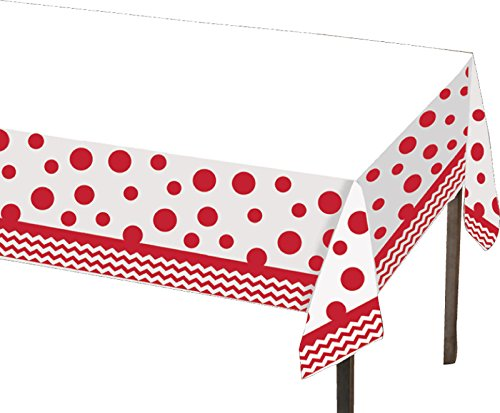 Creative Converting 720048 Celebrations Plastic Table Cover, 54 by 108