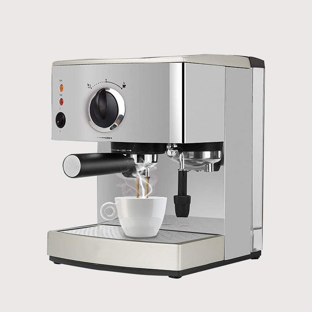 PXX Espresso Coffee Machine Maker 15 Bar, Capuccino, Frothing Milk Foam, 920W, Capacity 1.5L Removable Drip Tray Steam Nozzle for Preparing Hot Drinks