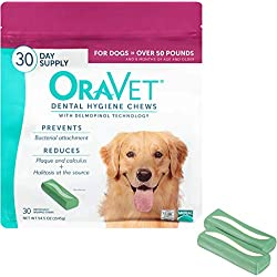 Merial Oravet Dental Hygiene Chew For Large Dogs (50 Lbs And Over), Dental Treats For Dogs, 30 Count