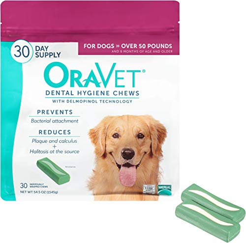 OraVet Dental Hygiene Chews for Large Dogs, 30 Count