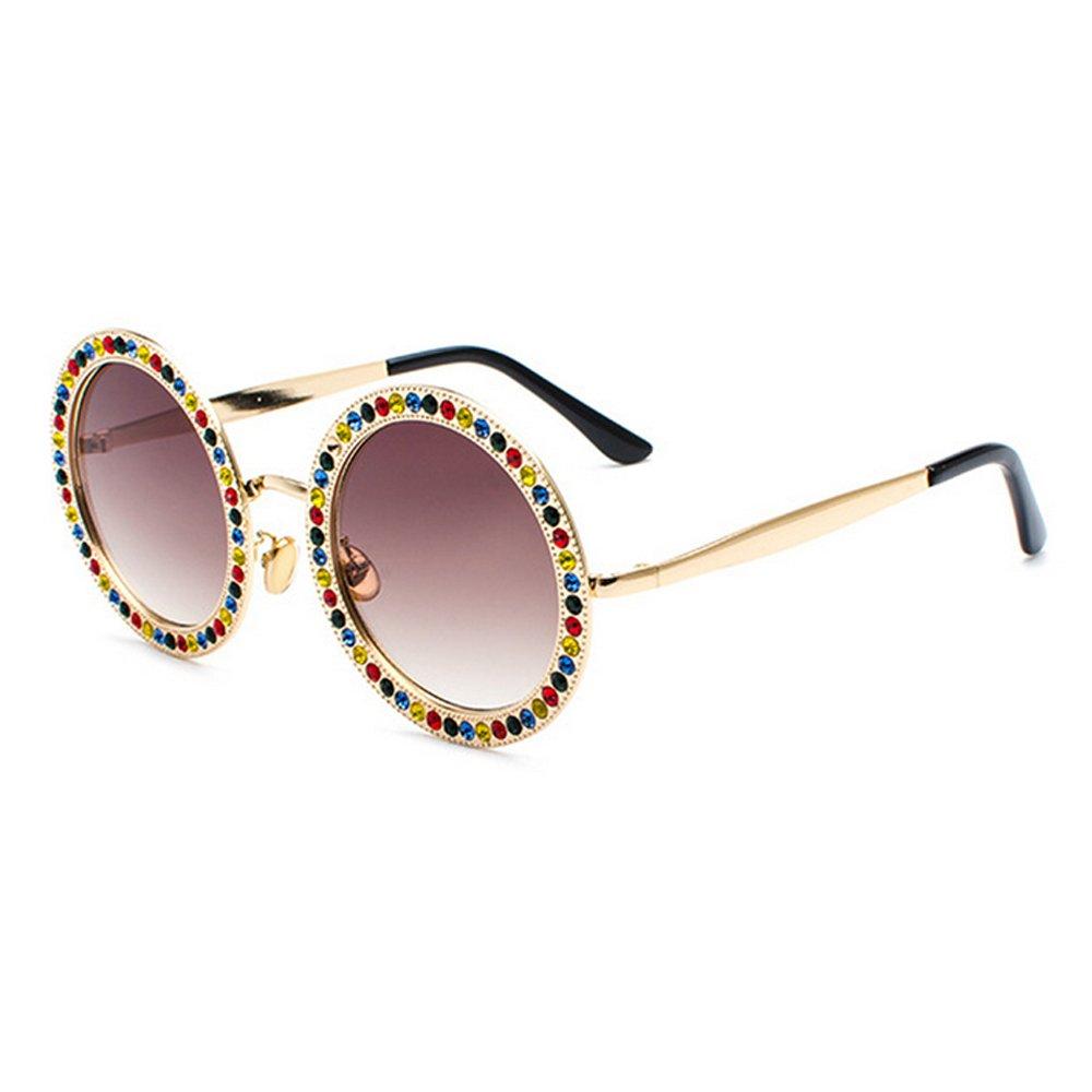 Gafas de sol redondas de gran tamaño con diamantes de imitación para ... 827a983afddf