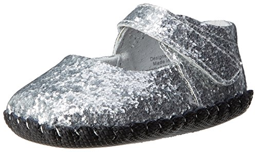 pediped Originals Delaney Crib Shoe (Infant/Toddler),Silver,Small (6-12 Months)