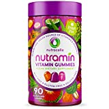 NUTRACELLE Vitamin Gummies Keto + Vegan | Free of Top 14 Allergens | Sugar-Free Gluten-Free Nut-Free Soy-Free Dairy-Free Non GMO | Natural Energy Support Adults Daily Multivitamin Supplement Gummy 90