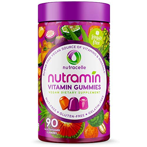 NUTRACELLE Gummies | Vegan Keto Vitamins Women and Men | Top 14 Allergen Free Sugar-Free Gluten-Free Nut-Free Dairy-Free Non GMO | Natural Energy Support Adults Daily Multivitamin Supplement Gummy 90