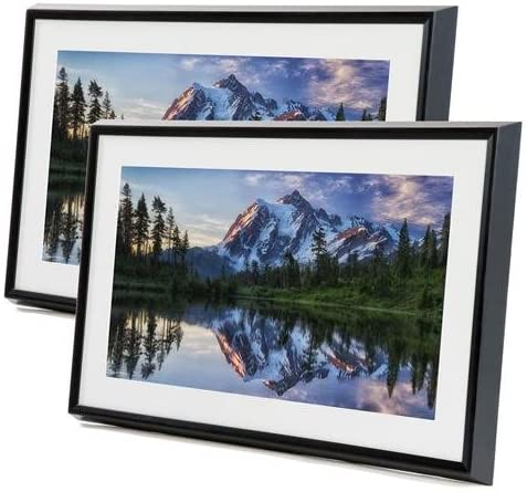 Meural Canvas Leonora 27 Widescreen LCD WiFi Digital Photo Frame – Black, 2-Pack
