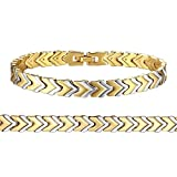 Orangelove Two-tone 18K Gold Plated Bracelet Chain for Men Women High Polished