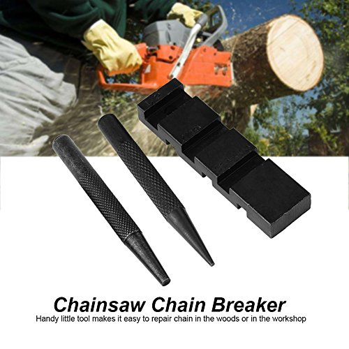 Pocket Chainsaw Bar Chain Link Revit Punch Breaker Pocket Punch Breaker & Joiner Professional Chainsaw Chain Repairing Mending Tool Set by Yosoo