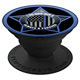 Brave New Look I've Got His 6 Always And Forever - Police PopSockets Stand for Smartphones and Tablets
