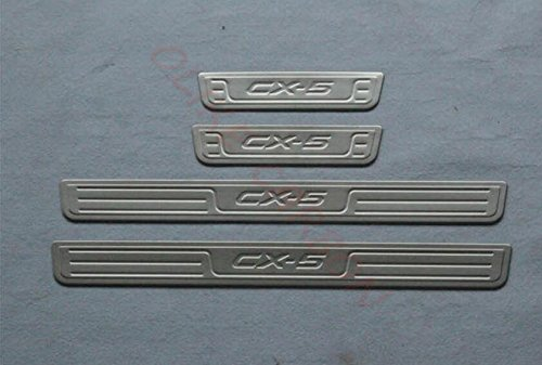 For Mazda CX-5 CX5 2013-2016 Door Sill Scuff Plate Guard Sills Protector Trim B# (NOT FOR 2017) OLIKE OL932