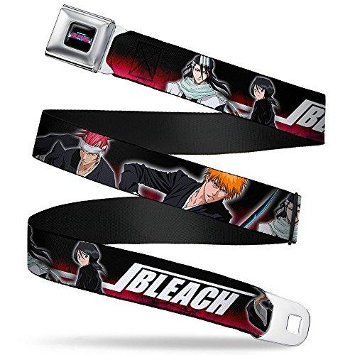 Red Black Cool Belt Buckle (Buckle Down Big Boys Character Poses Black/red/white Seatbelt Belt, multi,)
