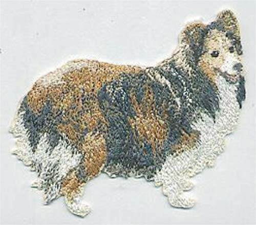 (3.25'' Shetland Sheepdog Breed Embroidery Patch Applique)