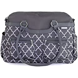 JJ Cole Satchel Diaper Bag, Stone Arbor