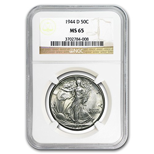 1944 D Walking Liberty Half Dollar MS-65 NGC Half Dollar MS-65 NGC