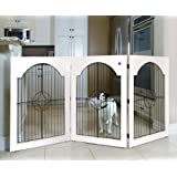 Majestic Pet Universal Free Standing Pet Gate (Wire Insert and White)