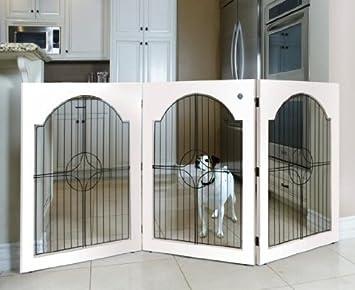 Amazon.com : Universal Free Standing Pet Gate (Wire insert & White ...