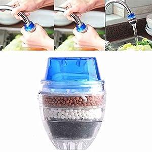 OUNONA Mini Filtre à Eau de Robinet Purificateur d'eau de Robinet pour Robinet Rond de diamètre 1,6 à 1,9 cm(Couleur…