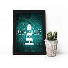 Quadro Decorativo de Frase - Knowledge
